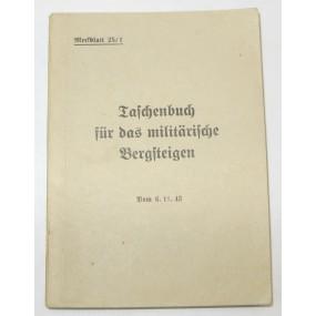 Taschenbuch für das militärische Bergsteigen 1943