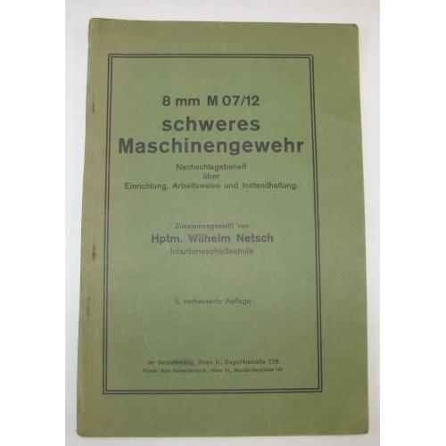 8 mm schweres Maschinengewehr Schwarzlose M 07/12