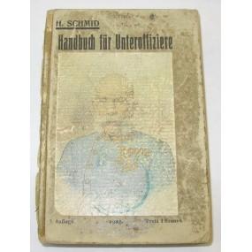 H. Schmid, Handbuch für Unteroffiziere 1913