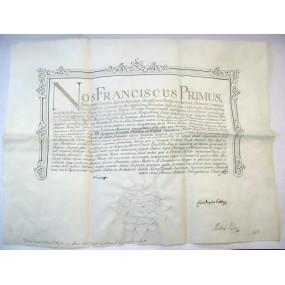 Verleihungsurkunde zum k.u. Sankt Stephans-Ordens (Ritter)