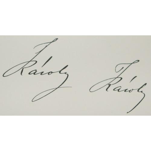 Originalunterschrift Seiner Majestät Kaiser Karl