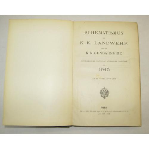 Schematismus der k.k. Landwehr und der k.k. Gendarmerie 1912