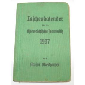 Taschenkalender für die Österreichische Frontmiliz 1937