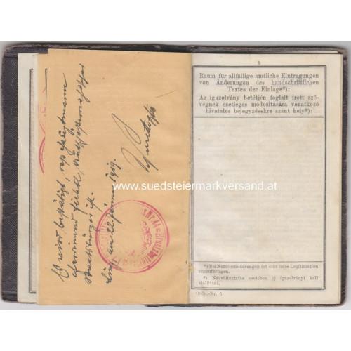 Legitimation für Millitärpersonen k. k. Feldartillerieregiment Nr. 44