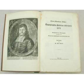 Georg Matthäus Vischer, Topographia Austriae inferioris 1672
