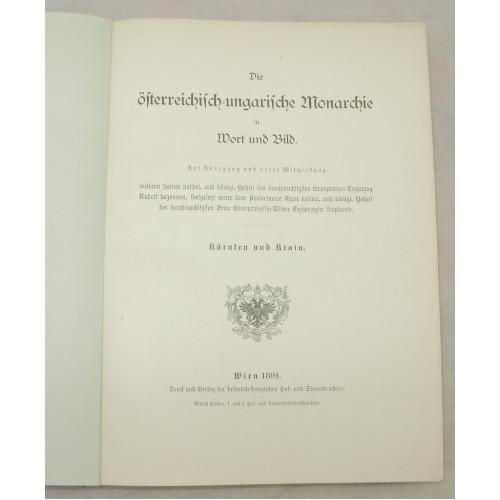 Die österreichisch - ungarische Monarchie in Wort und Bild, Kärnten und Krain