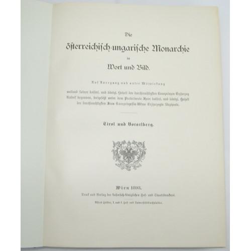 Die österreichisch - ungarische Monarchie in Wort und Bild, Tirol und Vorarlberg