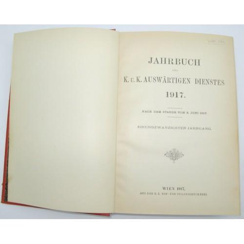 Jahrbuch des k.u.k. Auswärtigen Dienstes 1917