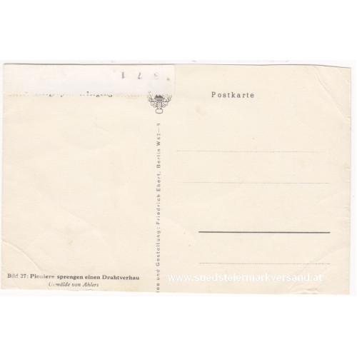 Ansichtskarte / Postkarte, Deutsche Wehrmacht, Pioniere sprengen einen Drahtverhau