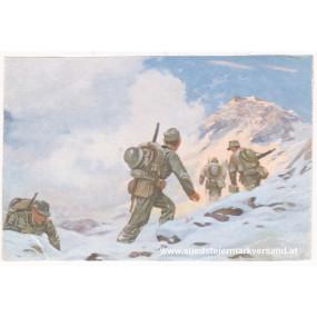 Ansichtskarte / Postkarte, Deutsche Wehrmacht, Gebirgsjäger im Vorgehen
