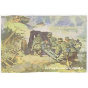 Ansichtskarte / Postkarte, Deutsche Wehrmacht, Pak erledigt einen russischen Panzer