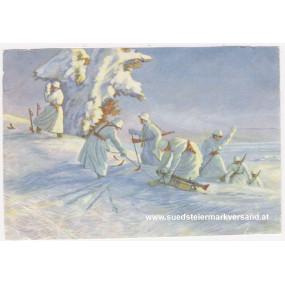 Ansichtskarte / Postkarte, Deutsche Wehrmacht, Spähtrupp im Schneegelände