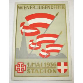 Wiener Jugendfeier - Veranstaltet vom Stadtschulrat für Wien 1. Mai 1936 - Stadion