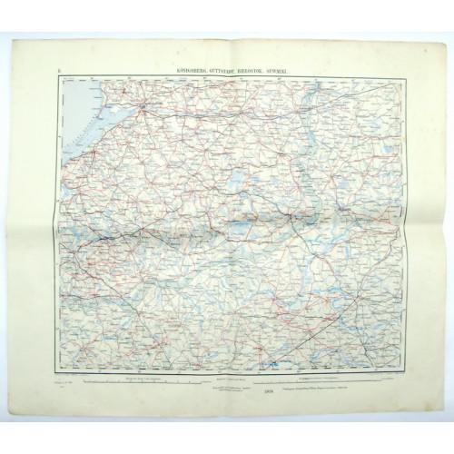 k. u. k. Landkarte, KÖNIGSBERG, GUTTSTADT, BIELOSTOK, SUWALKI