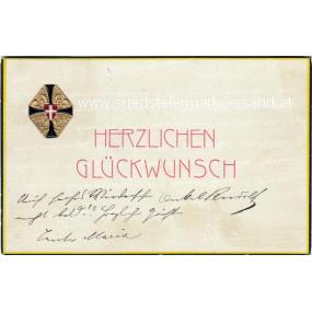 FELDPOSTKARTE, Schwarz - Gelbes Kreuz