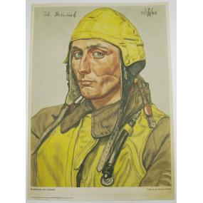 Willrich farbiges Plakat, Staffelkapitän einer Jagdstaffel (Johannes Steinhoff)