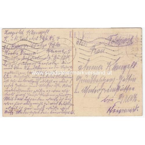 1. WK Postkarte, Unterseeboot 9