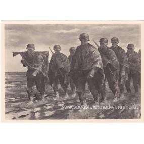 """Heer-Propaganda-Postkarte, Rudolf Lipus """"Durch russische Steppe"""""""