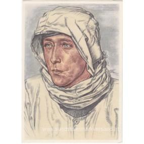 Heer-Willrich farbige Propaganda-Postkarte - Ein bewährter Spähtruppführer
