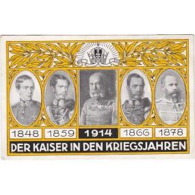 Ansichtskarte / Postkarte, DER KAISER IN DEN KRIEGSJAHREN 1848/1859/1866/1878/1914