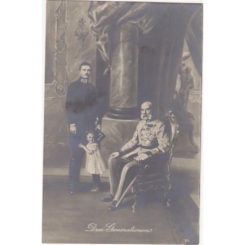 Ansichtskarte / Postkarte, DREI GENERATIONEN