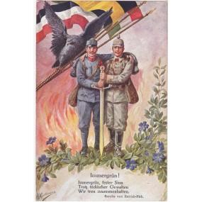 Ansichtskarte / Postkarte, Immergrün