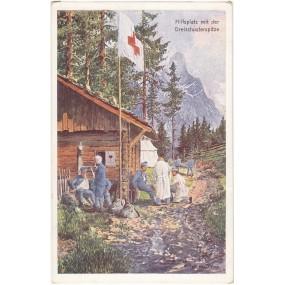 Ansichtskarte / Postkarte, Hilfsplatz mit der Dreischusterspitze