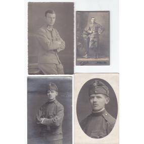 WK I, Österreich, Soldaten in feldgrauer Uniform