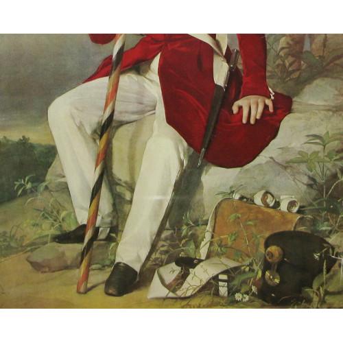 Erzherzog Franz Joseph mit Fahne 1838