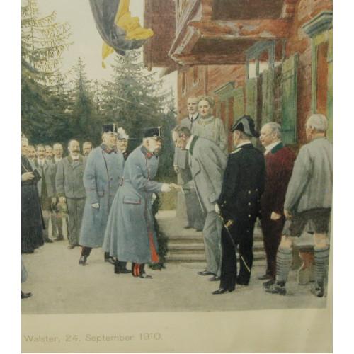 Kaiser Franz Joseph I. von Österreich, Walster 24. September 1910