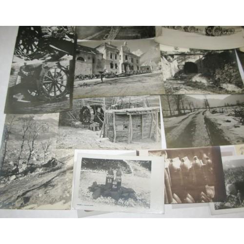 k.u.k. Fotos der Kärntnerfront Abschnitt zwischen Rombon und Wischberg 1917