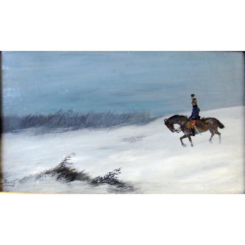 Albert Baky, Husar im Schneegestöber