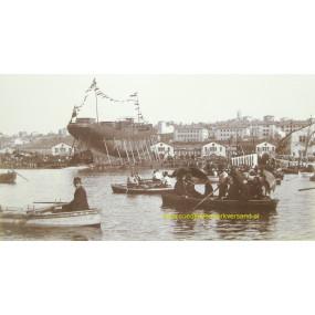 Erinnerung an den Stapellauf des Lloyddampfers HABSBURG in Triest 1895
