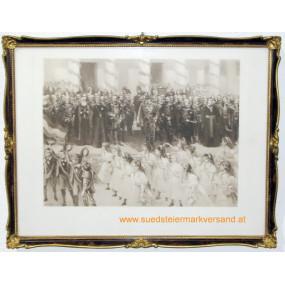 Besuch Kaiser Franz Josephs I. in Agram (Zagreb), Kroatien vom 13. - 16. Oktober 1895