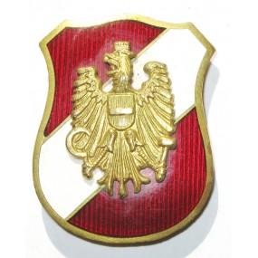 Österreich 1. Republik, emaillierte Kokarde der Sicherheitswache