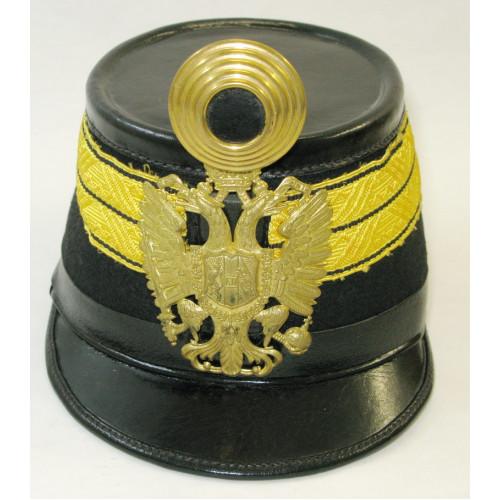 Tschako für einen Wachtmeister der k. u. k. Infanterie