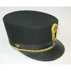 Schwarze steife Kappe für Fähnriche der k. u. k. Armee