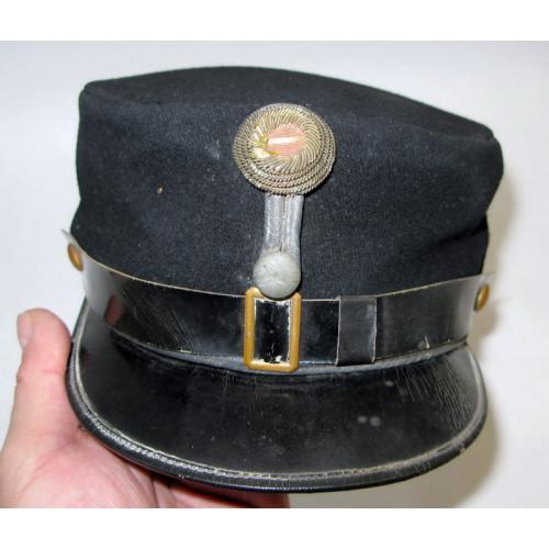 1. Republik schwarze Offizierskappe