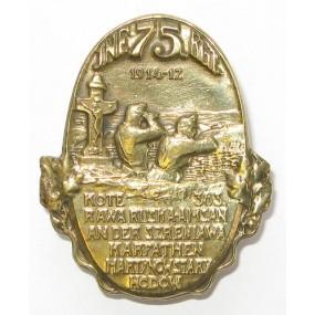 INFANTERIE REGIMENT 75 1914-17, KOTE 363... KARPATHEN...HODOW
