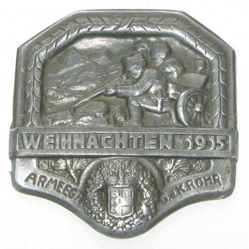 ARMEEGR. GdK ROHR - WEIHNACHTEN 1915