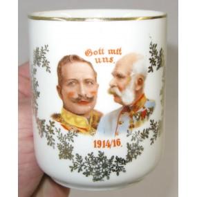 Patriotisches Heferl/Tasse Gott mit uns 1914/16