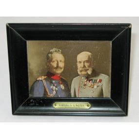 Patriotisches Bild, Kaiser Franz Josef I. und Kaiser Wilhelm II. VIRIBUS UNITIS
