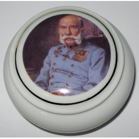 Patriotische Deckeldose Kaiser Franz Josef I.