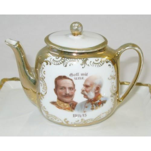 Patriotisches Kaffeeservice Gott mit uns 1914-1915