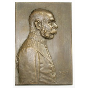 Bronzeplakette, Kaiser Franz Josef I.