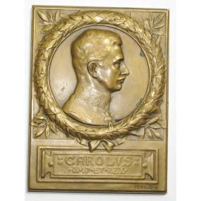 Bronzeplakette, Kaiser Karl I.
