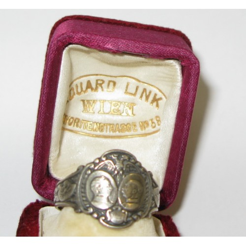 Patriotischer Ring , Kaiser Franz Josef I. und Kaiser Wilhelm II.
