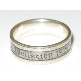1. Weltkrieg patriotischer Fingerring, Weltkrieg 1914 - 15