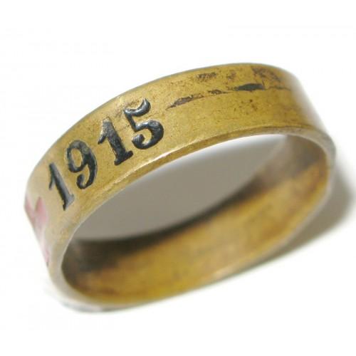 1. Weltkrieg patriotischer Fingerring, ROTES KREUZ 1914 - 1915