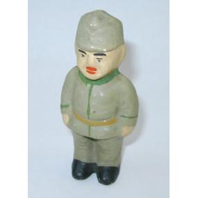 1. Weltkrieg, Patriotische Spardose k.u.k Soldat in Feldgrau